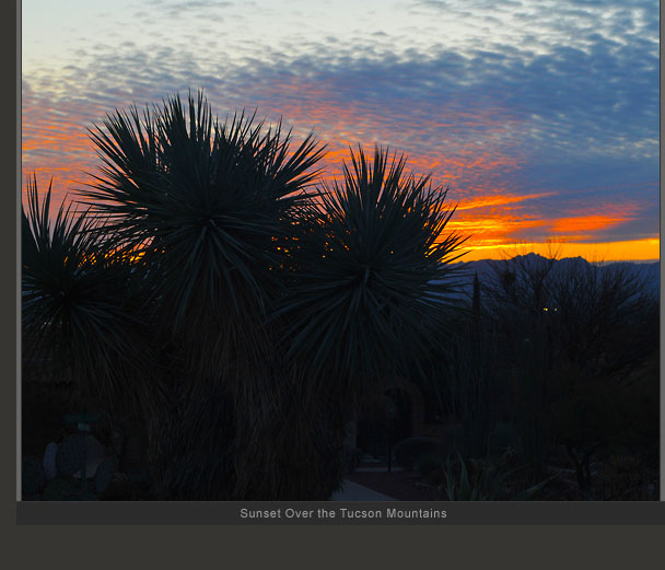 Sunset Over the Tucson Mtns